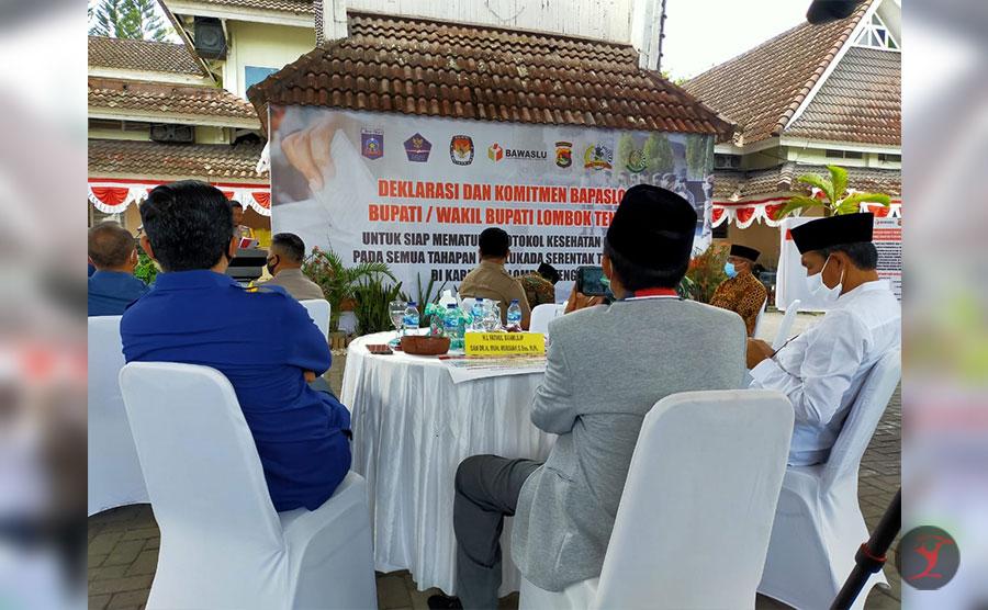 Deklarasi Bapaslon Bupati dan Wakil Bupati Lombok Tengah | Talikanews.com