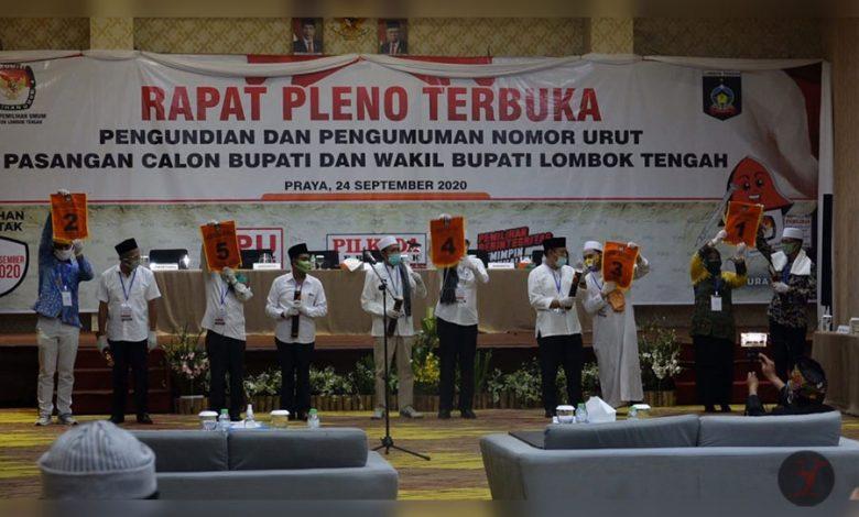 Pengundian dan Pengumpulan Nomor Urut Psangan Calon Kepala Daerah Lombok Tengah | talikanews.com