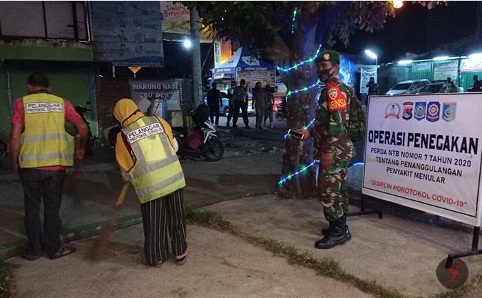 Tim Hunting Protokol Kesehatan Lobar Sasar Tempat Hiburan Malam di Senggigi | talikanews.com
