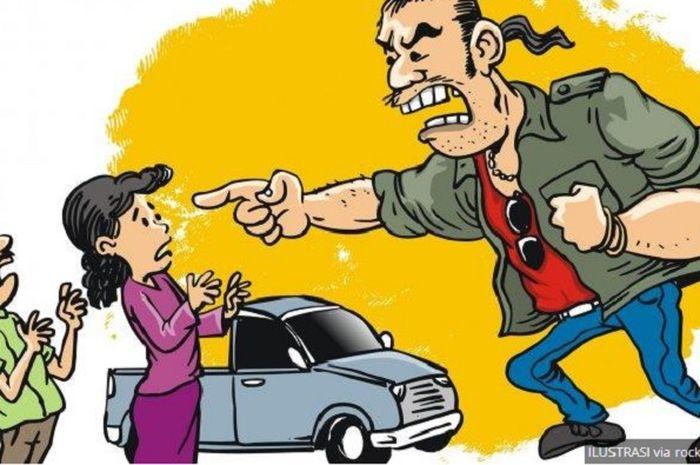 Ilustrasi Debt Collector Rampas Mobil Ibu Hamil | Talikanews.com