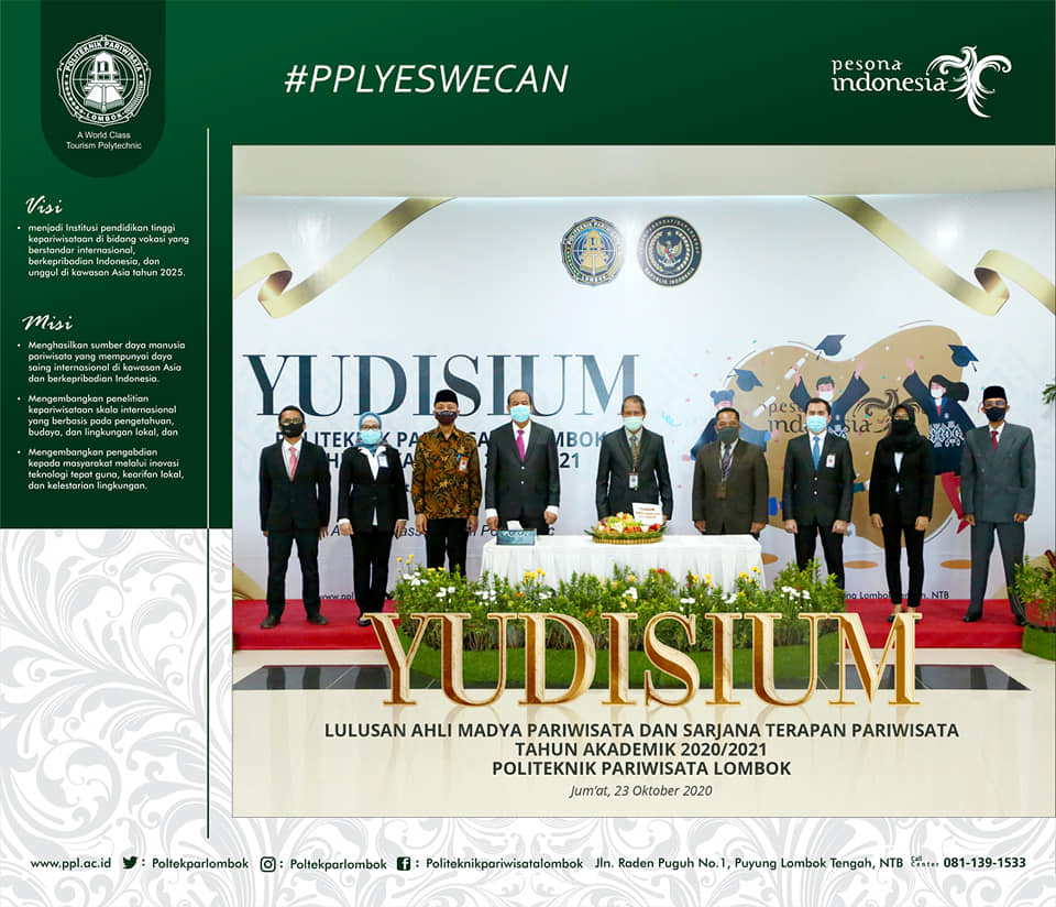 Yudisium Perdana Virtual Poltekpar Lombok   Talikanews.com