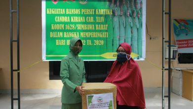 Photo of Moment hari Ibu, Persit Kodim 1628/KSB berbagi paket Sembako ke Panti Asuhan
