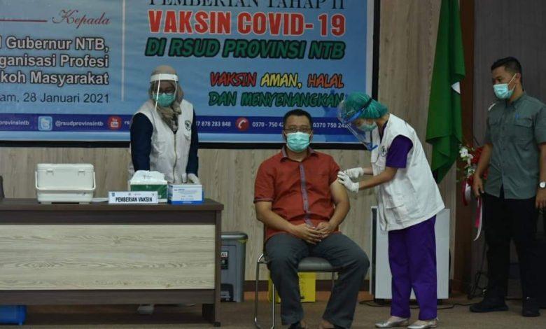 Gubernur NTB Di Vaksin bukan Berarti sudah Merdeka