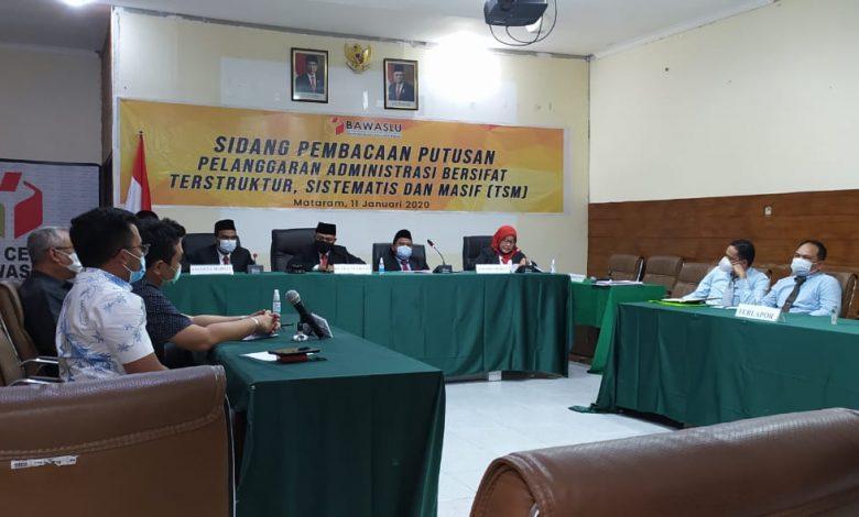 Ketua Majelis Sengketa Pilkada Sumbawa Putuskan, Gugatan Jarot-Mokhlis tidak Terbukti