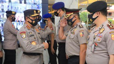 Photo of Hindari Kerumunan, Komjen Pol Agus Virtualkan Kenaikan Pangkat 390 Personel Jajaran Baharkam Polri
