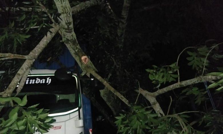 Mobil Avanza Tabrak Pantat Truck Fuso