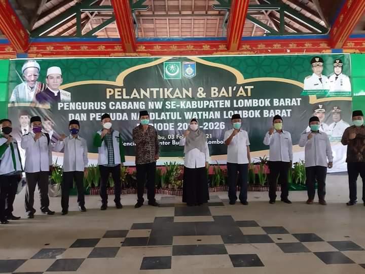 Pelantikan dan Baitan Pengurus cabang NW Kabupaten Lombok Barat