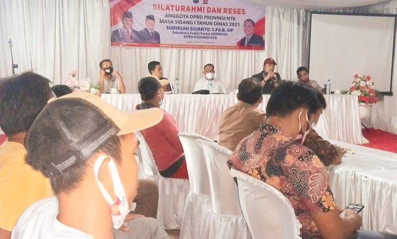 Reses Sudirsah Perdana 2021 di Lombok Utara, Muncul Keluhan Sampah dan Kebutuhan Air Bersih