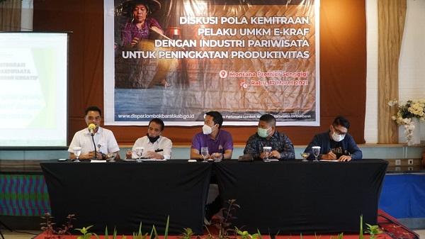 Dispar Lobar Gelar Diskusi Tingkatkan Sinergitas UMKM dengan Industri Pariwisata