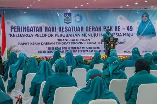 Gubernur Zul Dampingi Istri Tercinta di Acara HKG ke-49, Ini Optimisme ke TP PKK NTB