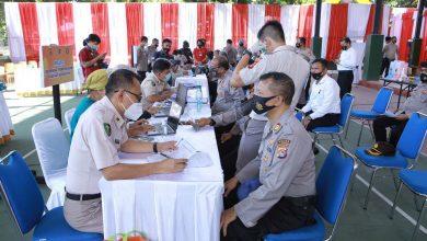 Photo of Sebanyak 5000 Lebih Anggota Polisi di NTB akan Divaksin, Tahap Pertama 363 orang